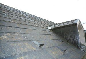 水性塗料が剥がれた、コロニアル屋根に遮熱塗料の日本ペイントのサーモアイで塗装し仕上げました